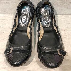 Tod's Cap Toe Ballet Flats Size 38.5